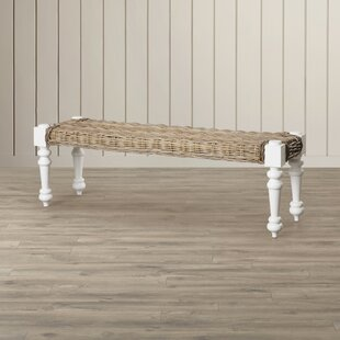 Parkland Rattan Bench by Beachcrest Home