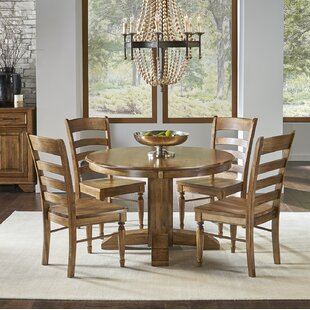 Ian 5 Piece Extendable Solid Wood Dining Set