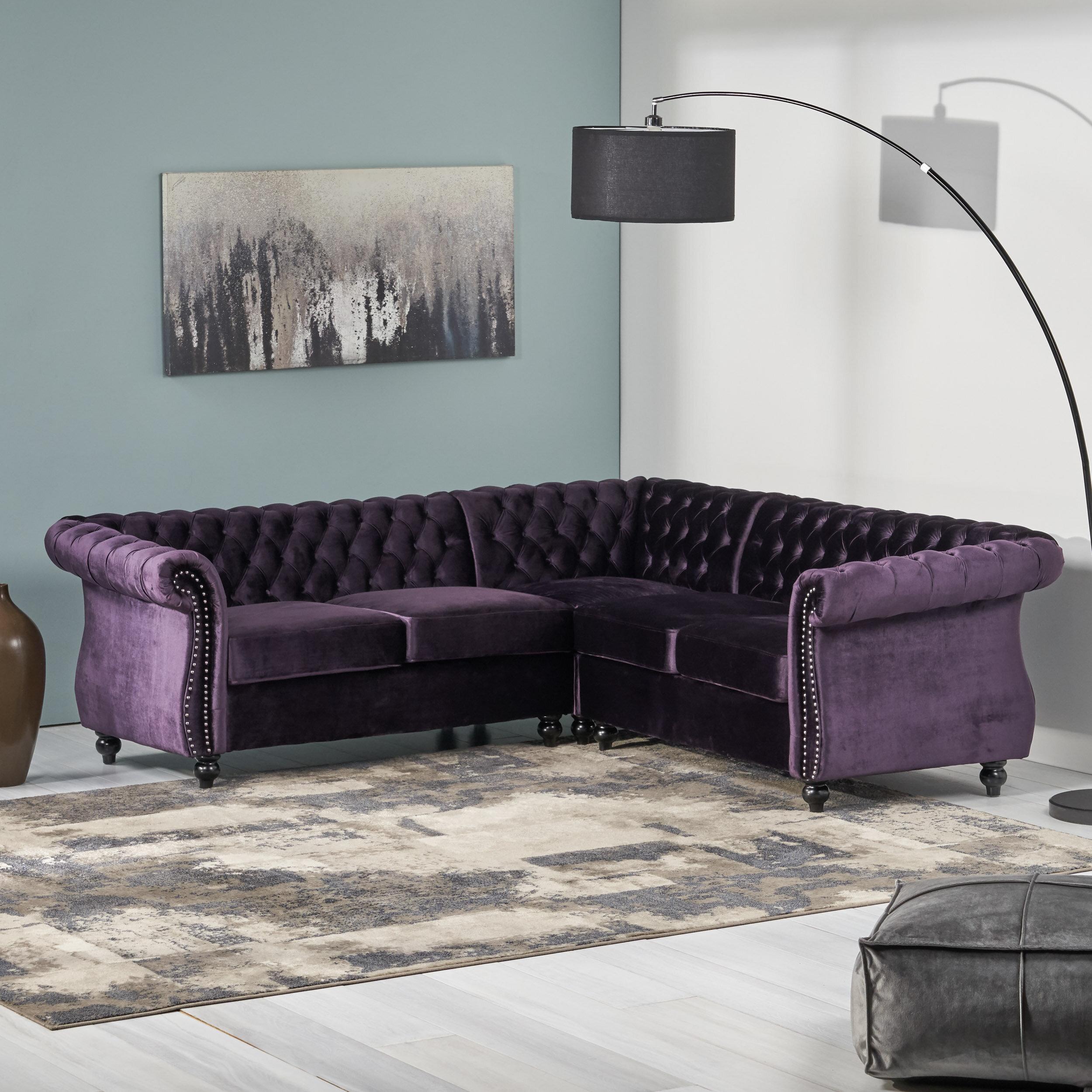 House Of Hampton Firth Symmetrical Sectional Reviews Wayfair