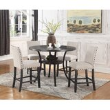 Maudie 5 Piece Counter Height Solid Wood Dining Set