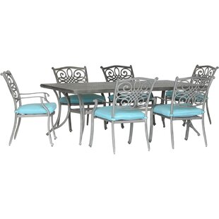 Charlton Home Worceer 7 Piece Dining Set with Cushion
