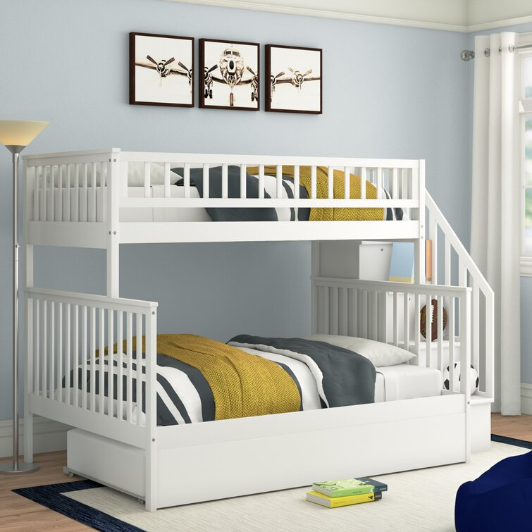 Full Solid Wood Standard Bunk Bed