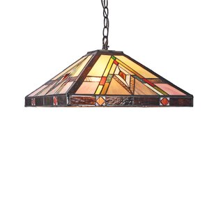 Harlem Mission 2-Light Rectangle Pendant by Millwood Pines