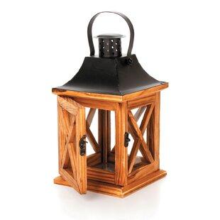 Best Deals Wood Lantern By Loon Peak