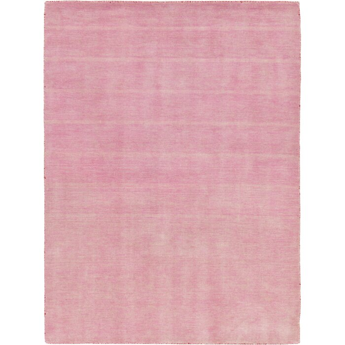 Taul Hand Knotted Wool Pink Area Rug