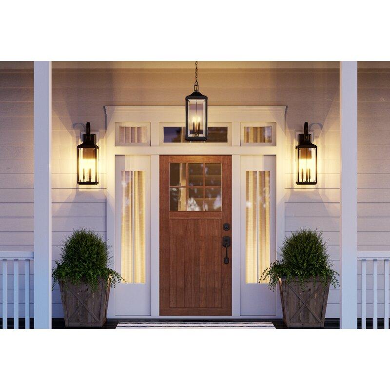 Birch Lane Agastya 2 Bulb 21 75 H Outdoor Wall Lantern Reviews Wayfair