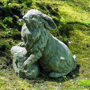 Campania International Rabbit on a Rock Statue