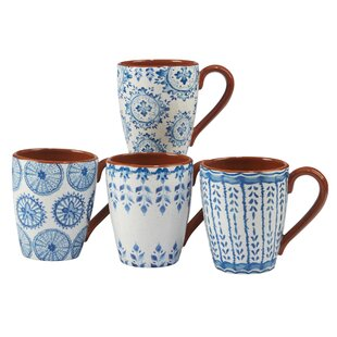 Yasmine Ceramic Coffee Mug (Set of 4)