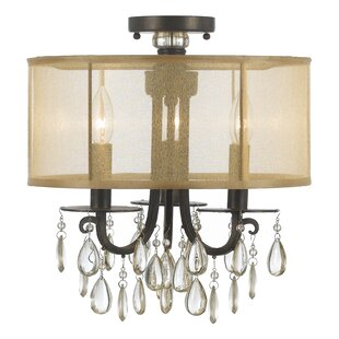 Willa Arlo Interiors Aayush 3-Light Semi Flush Mount