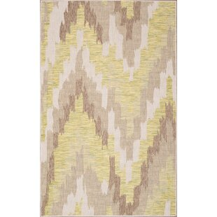 Annie Ivory/Green Indoor/Outdoor Area Rug