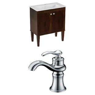 Hindman 25 Wall-Mounted Single Bathroom Vanity Set by Royal Purple Bath Kitchen
