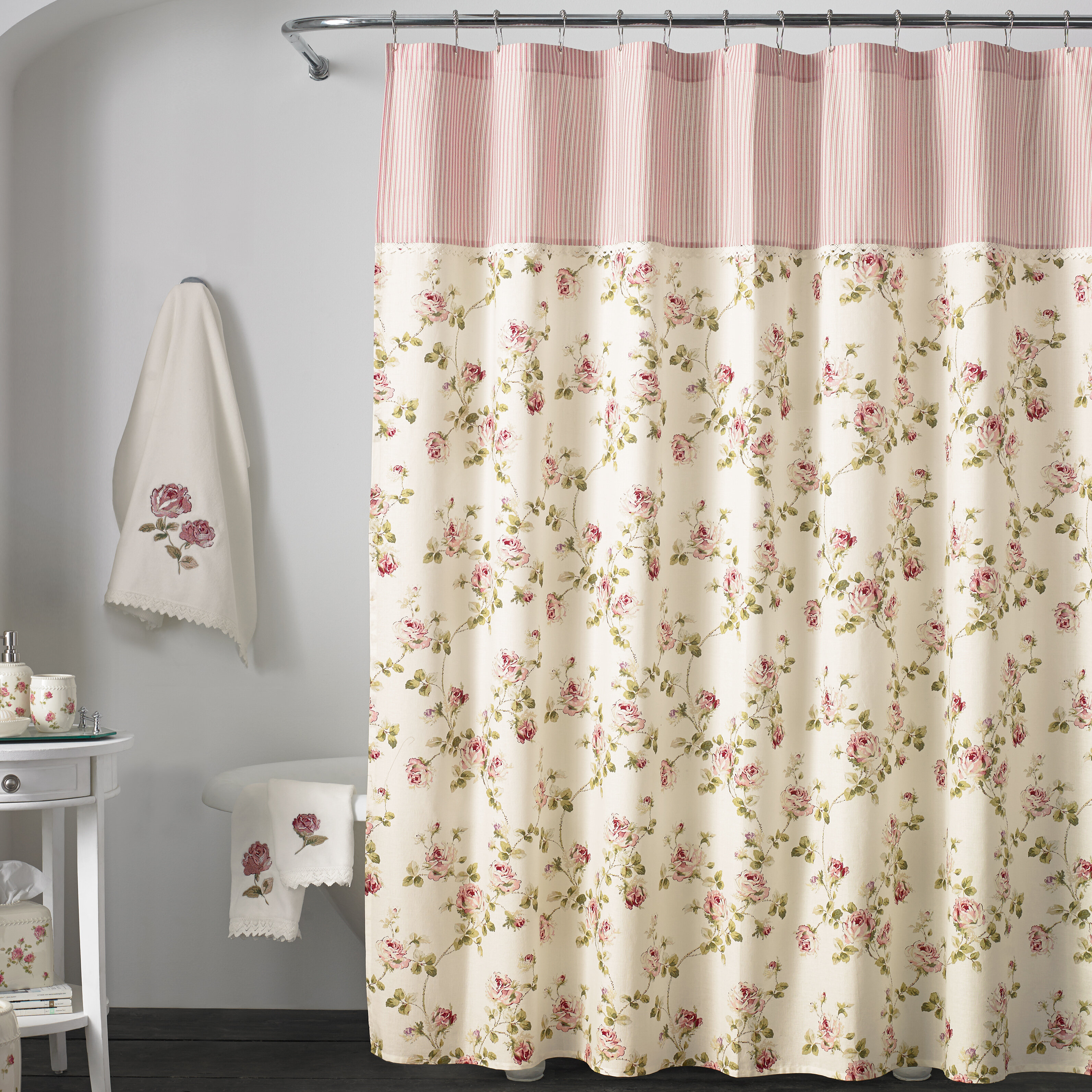 Ophelia Co Rigby Cotton Floral Single Shower Curtain Reviews Wayfair