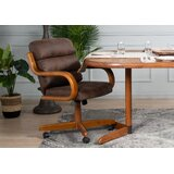 Upholstered Arm Chair in Medium Oak by AW Furniture