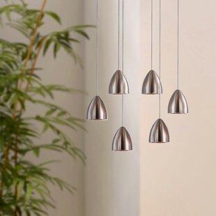 Atherton 6-Light LED Cluster Pendant by Orren Ellis
