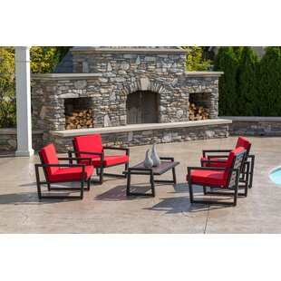 Vero 5 Piece Sunbrella Multiple Chairs Seating Group with Cushions