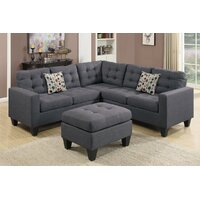 Deals on Andover Mills Pawnee Sectional with Ottoman