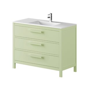 Nakagawa Solid Pine 1000mm Single Vanity Unit By 17 Stories