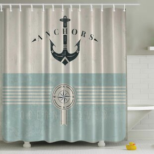Ocean Lover Print Single Shower Curtain
