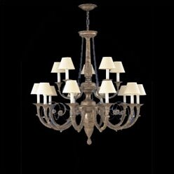 Zanin Lighting Inc. Menorca 15-Light Shaded Chandelier