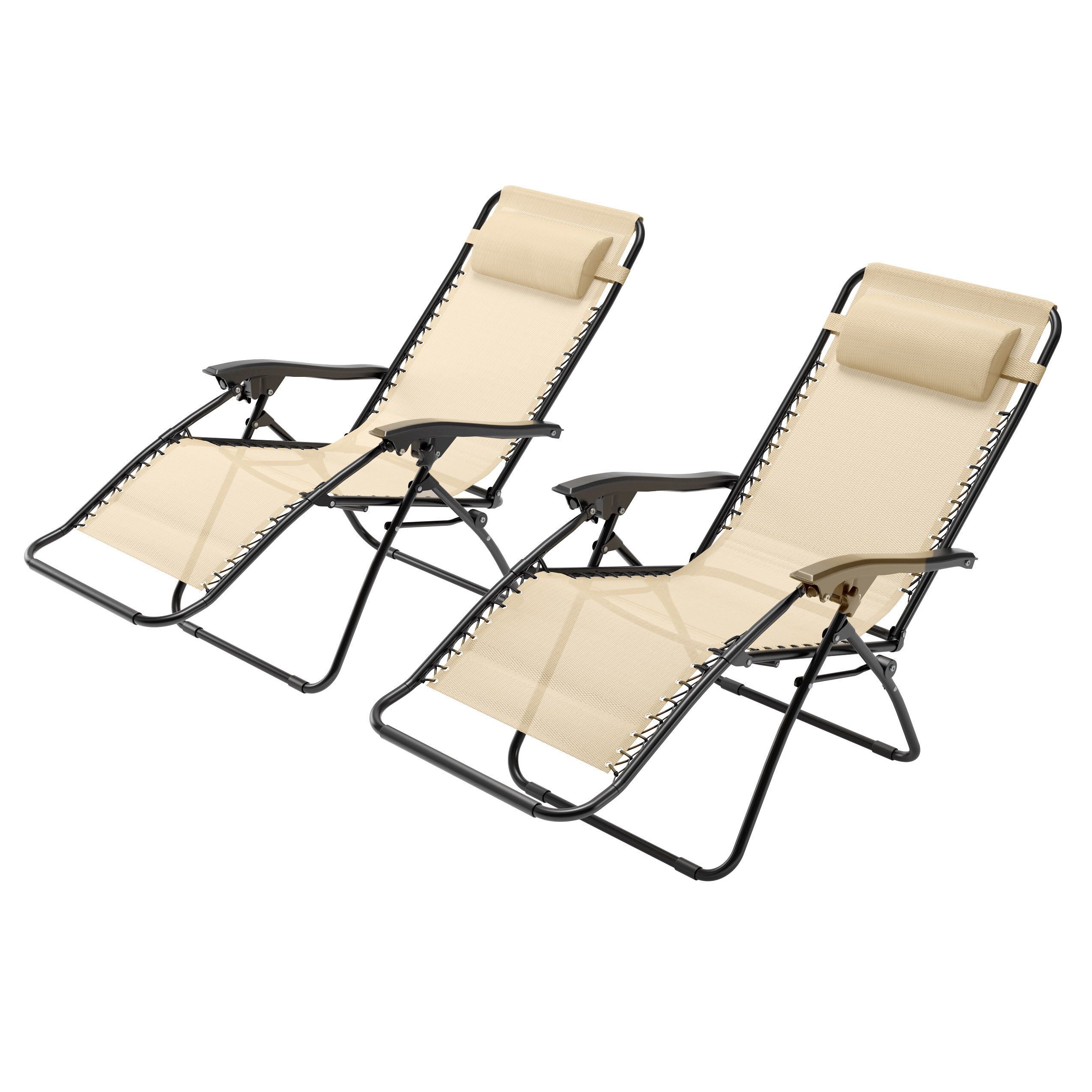 Wondrous Phina Textured Zero Gravity Reclining Sun Lounger Set With Cushions Caraccident5 Cool Chair Designs And Ideas Caraccident5Info