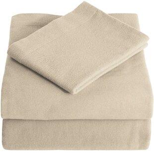 Bare Home Super Soft 100% Cotton Flannel Sheet Set