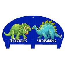 Dinosaur Friends 3 Hook Coat Rack by Next Innovations