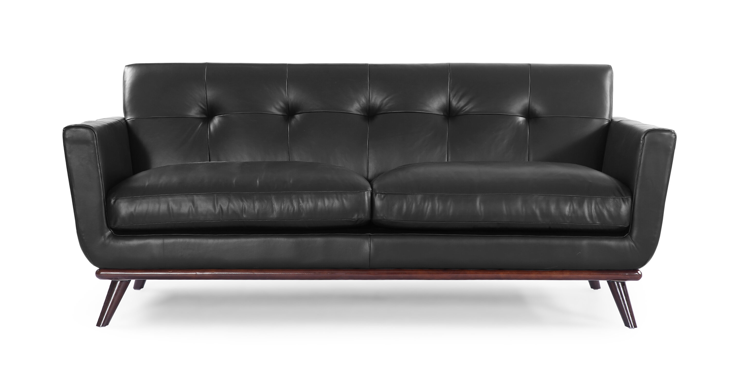 Corrigan studio luther mid century modern leather sofa wayfair
