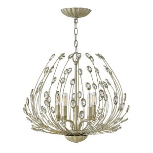 Tulah 5 Light Crystal Chandelier by Hinkl..