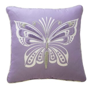Ipanema Butterfly Polyester Throw Pillow