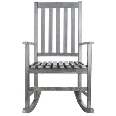 Awesome Barstow Teak Rocking Chair Alcott Hill Finish Ash Gray Gmtry Best Dining Table And Chair Ideas Images Gmtryco