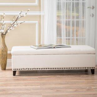 Charlton Home Brookland Upholstered Storage Bench