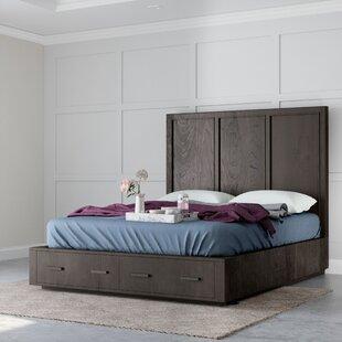 Adella Solid Wood Storage Platform Bed