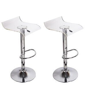 Stanhope Adjustable Height Swivel Bar Stool (Set of 2)