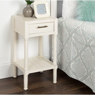 Nicholas Nightstand End Table with Storage by Highland Dunes