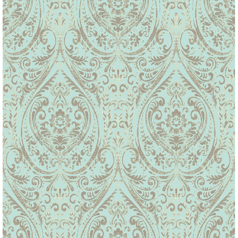 Astoria Grand Wooldridge 18 X 20 5 Damask Peel And Stick Wallpaper Reviews Wayfair