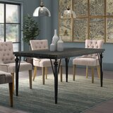 Crooke Nailhead Dining Table by Greyleigh™