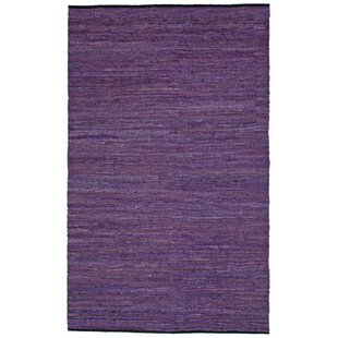 Sandford Flatweave Cotton Purple/White Area Rug By Latitude Run