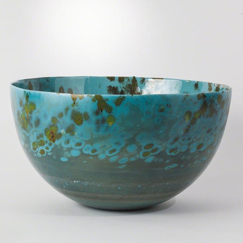 Studio A Galaxy Glass Decorative Bowl In Blue Perigold