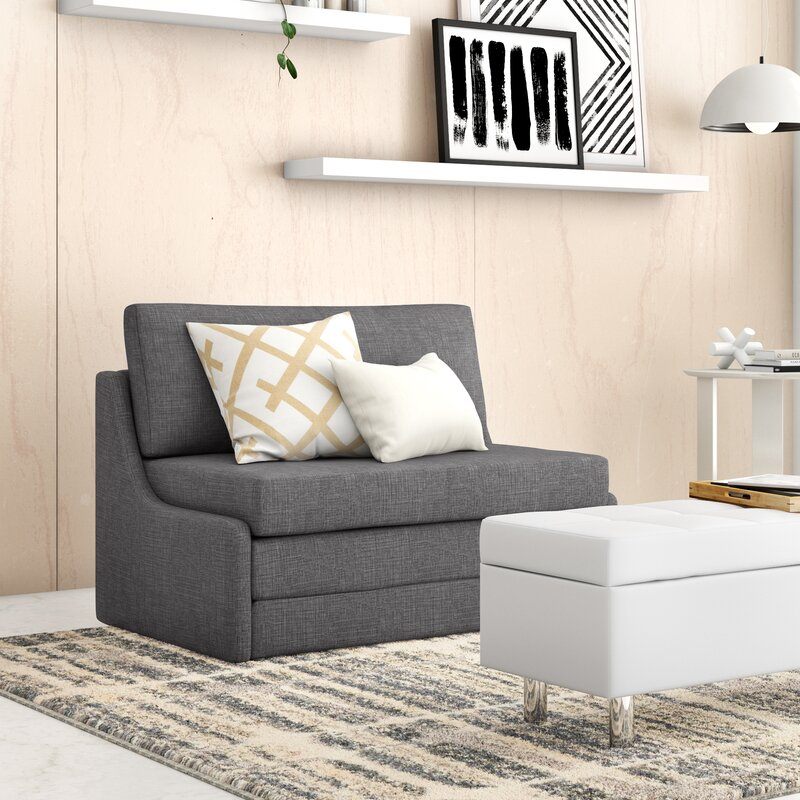 "Zipcode Design™ Sabine 43.31"" Wide Armless Sleeper Sofa Bed & Reviews | Wayfair"