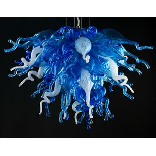 Viz Glass Love 4-Light Novelty Chandelier