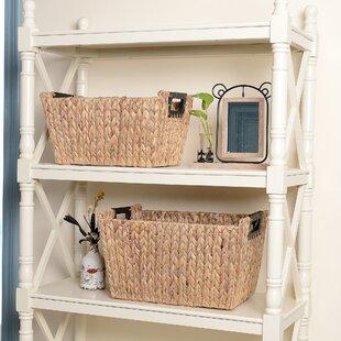 a0d45dfcf4de Nesting Rectangle 2 Piece Wicker Basket Set