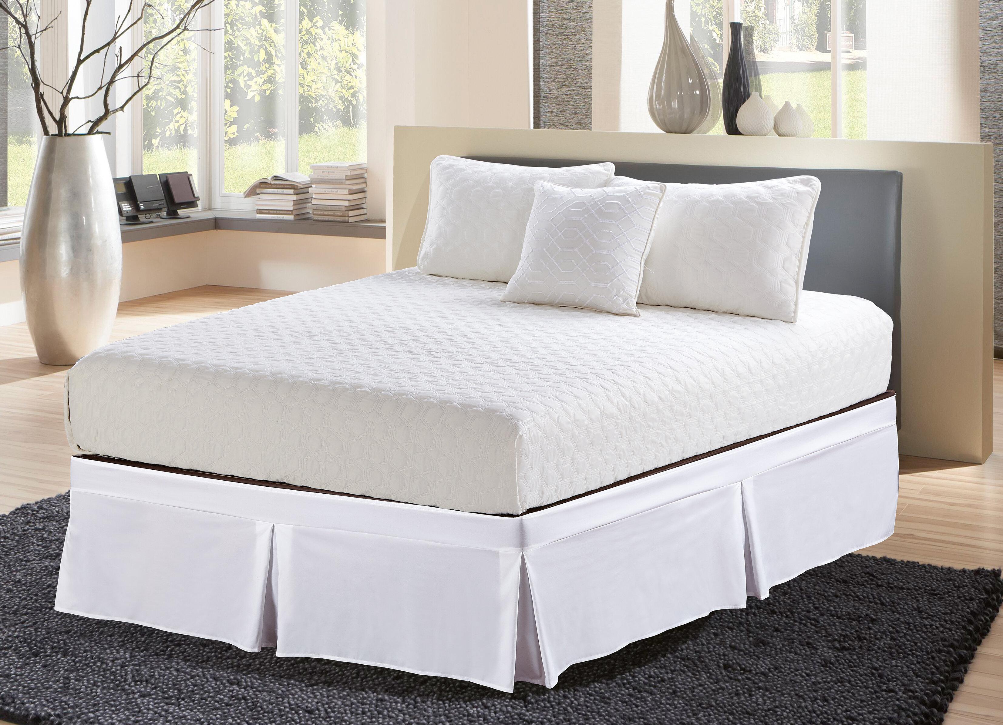 "Solid 620-TC Cotton Split Corner Gather Bed Skirt White n Many Color 10/""//11/""//12/"""