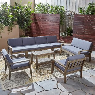 Jamie 7 Piece Sectional Seating Group with Cushion