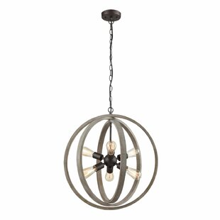 Adalwine Modern Rustic 6-Light Globe Pendant by Gracie Oaks