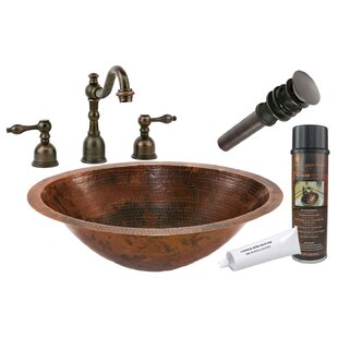 Master Bath Metal Oval Undermount Bathroom Sink with Faucet ByPremier Copper Products