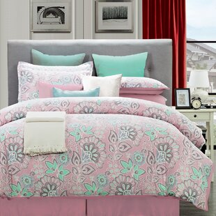 Dundas Flower Comforter Set by Ebern Designs