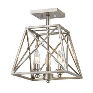 Tolya 3-Light Semi Flush Mount By 17 Stories Ceiling Lights