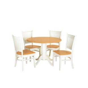 August Grove Agueda 5 Piece Drop Leaf Dining Set