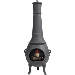 Quinlynn Cast Iron Wood Chiminea By Sol 72 Outdoor