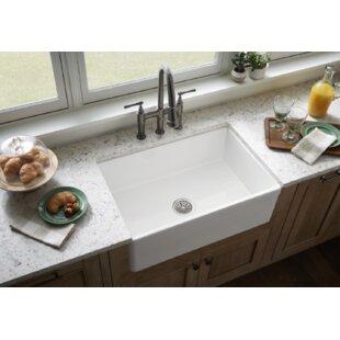 Fireclay 30 L X 20 W Farmhouse Kitchen Sink